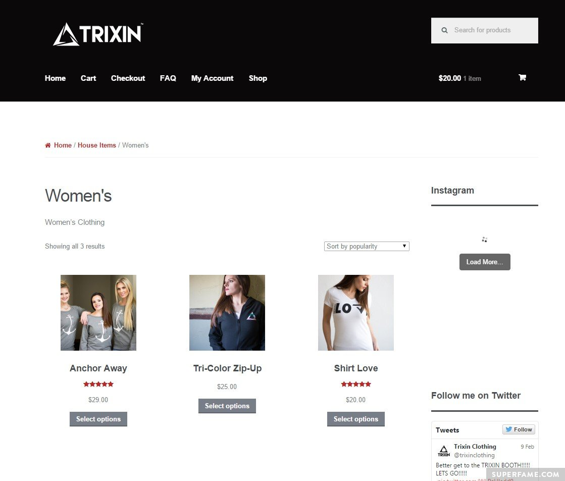 The Trixin website is plagued with glitches.