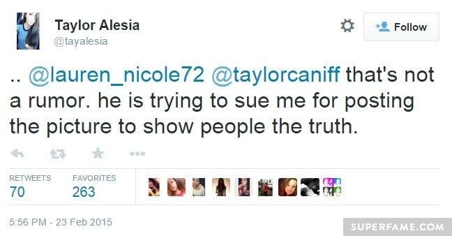 Taylor sues Taylor Alesia.