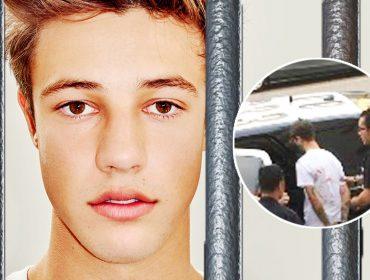 Cameron Dallas' mugshot arrest in jail.