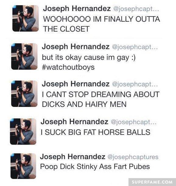 Homophobic jokes.