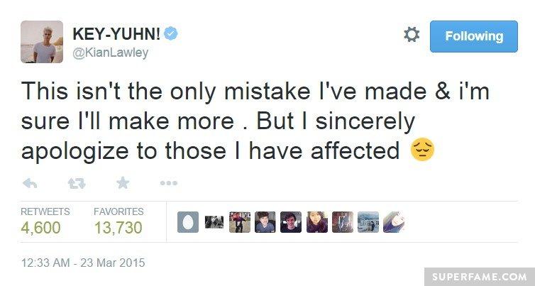 Kian apologizes.