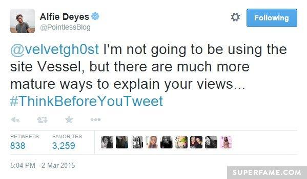 Think before you tweet.
