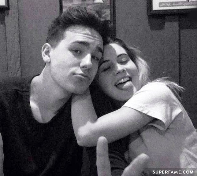 Bea Miller leans on Jacob Whitesides.
