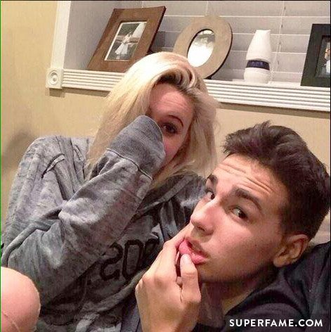 Bea Miller and Jacob Whitesides play around.