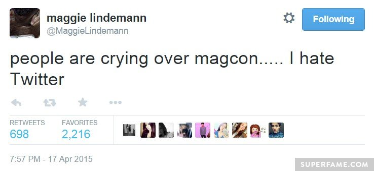 Crying over Magcon.