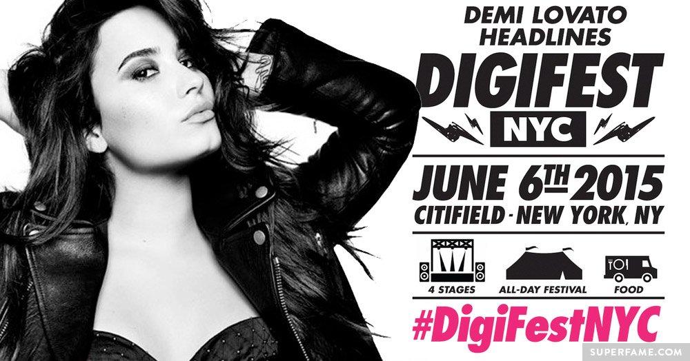 Demi Lovato at DigiFest.