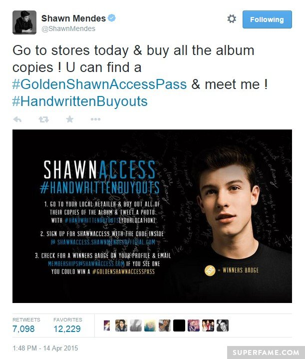 The Golden Shawn Access Pass contest.