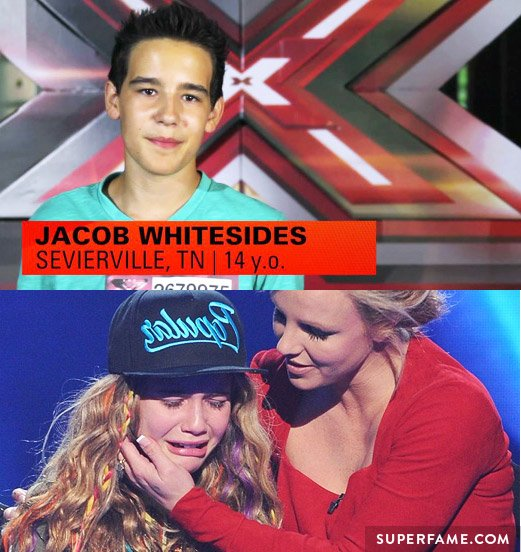 Jacob Whitesides, Beatrice Miller and Britney Spears.