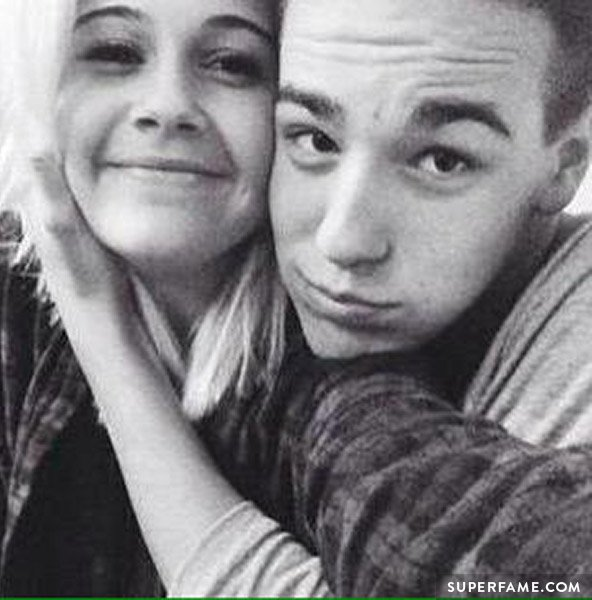 Jacob Whitesides hugs Bea.