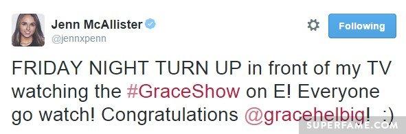 Jenn congratulates.