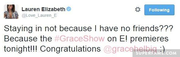 Lauren Elizabeth congratulates.