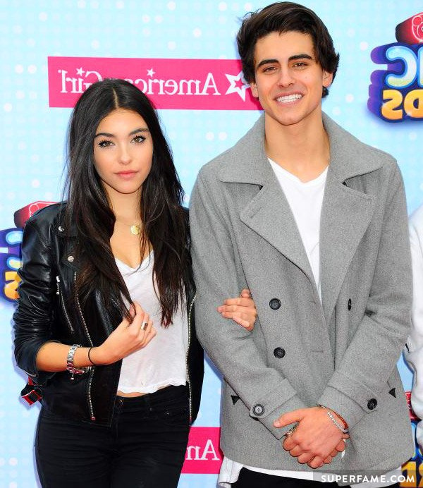 Madison Beer holds Jack Gilinsky.