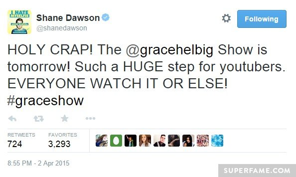 Shane Dawson backs her.