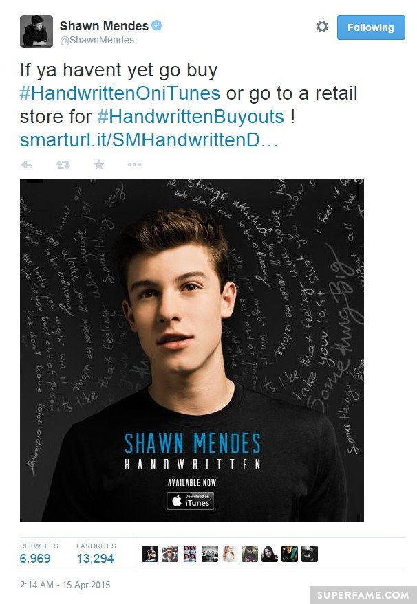Shawn Mendes loves a buyout.