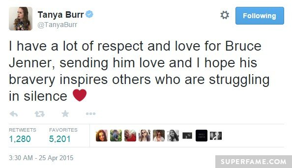Tanya Burr and Bruce.