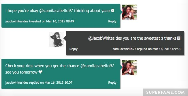 Jacob and Camila flirting.
