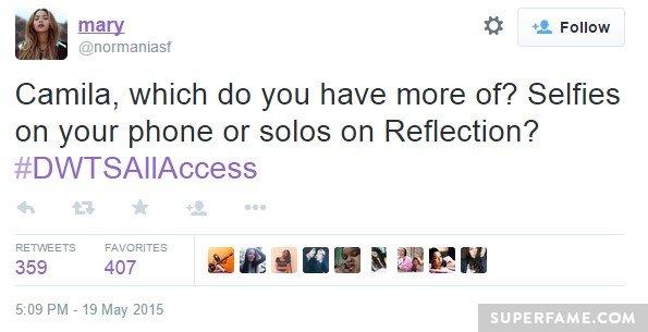 Camila, selfies?