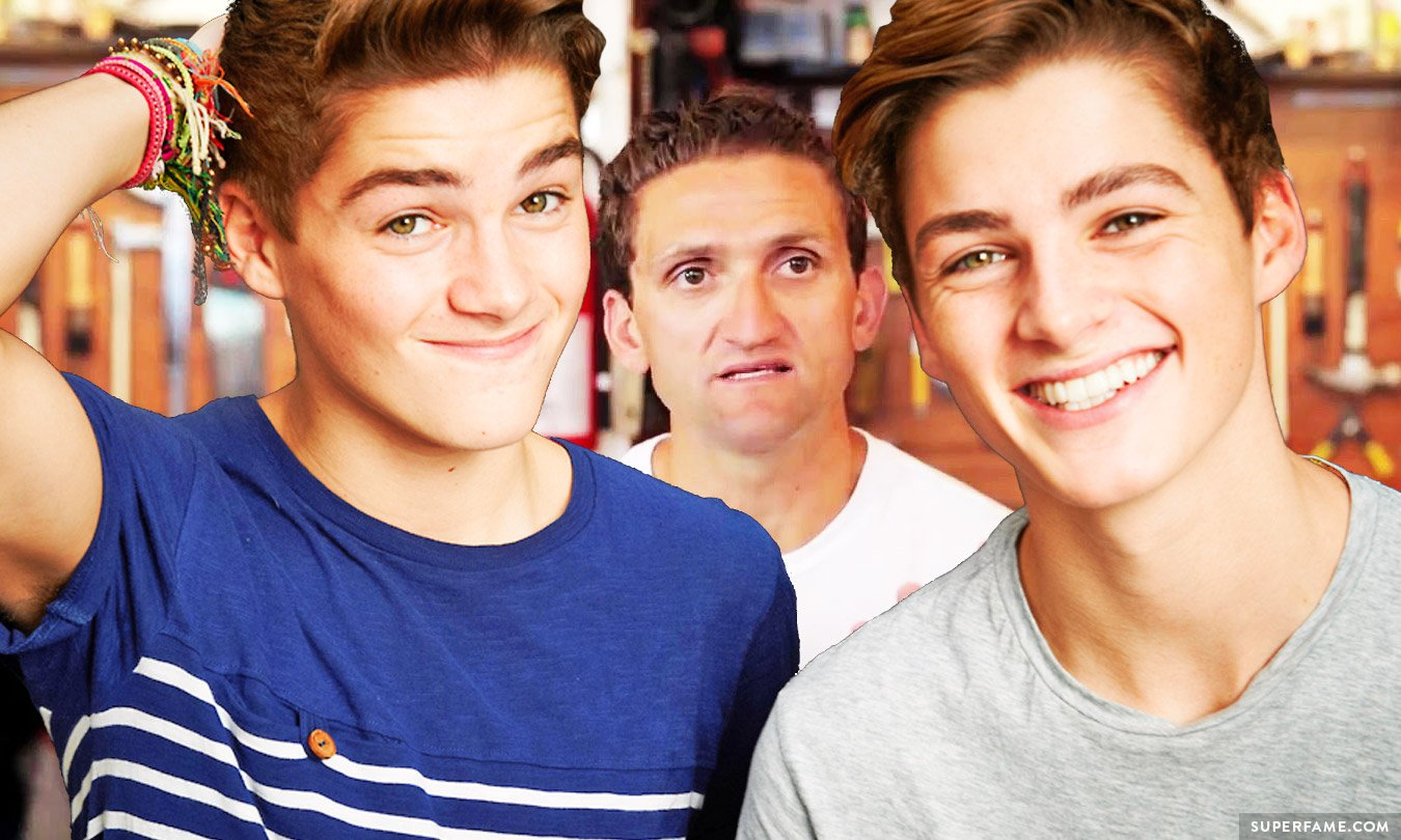 Jack and Finn Harries with Casey Neistat.