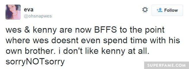 Don't like Kenny AT ALL.