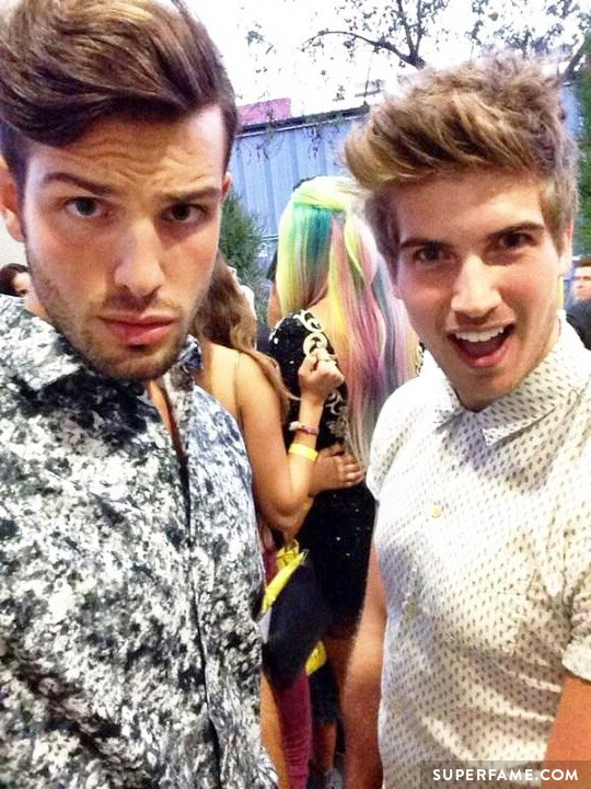 Joey Graceffa and rumored beau Daniel Christopher.