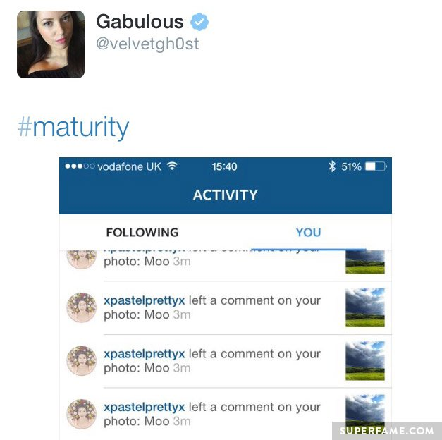 Gabriella Lindley Goes to War with 11-Year-Old 'Hater' on