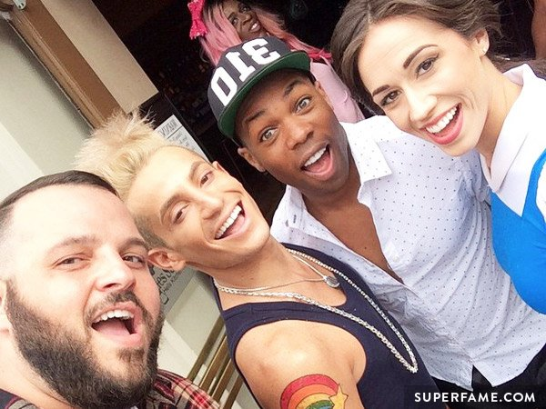 Colleen with Frankie Grande, Todrick Hall and Daniel Franzese
