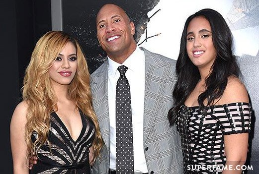 Dinah Jane with The Rock at the San Andreas premiere.