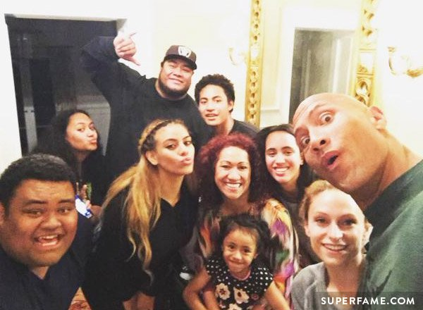 Dinah Jane hangs out with The Rock.