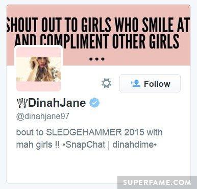 Follows Dinah Jane.