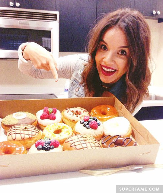 Ingrid Nilsen and donuts.