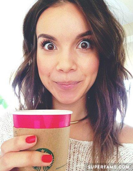 Ingrid with Starbucks.