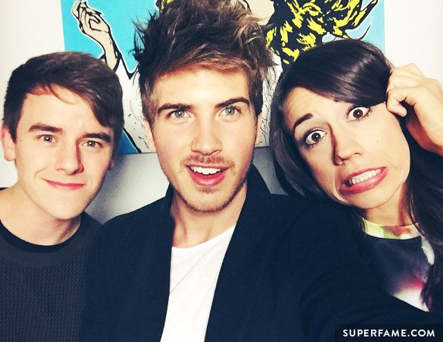 Colleen with Joey Graceffa and Connor Franta.
