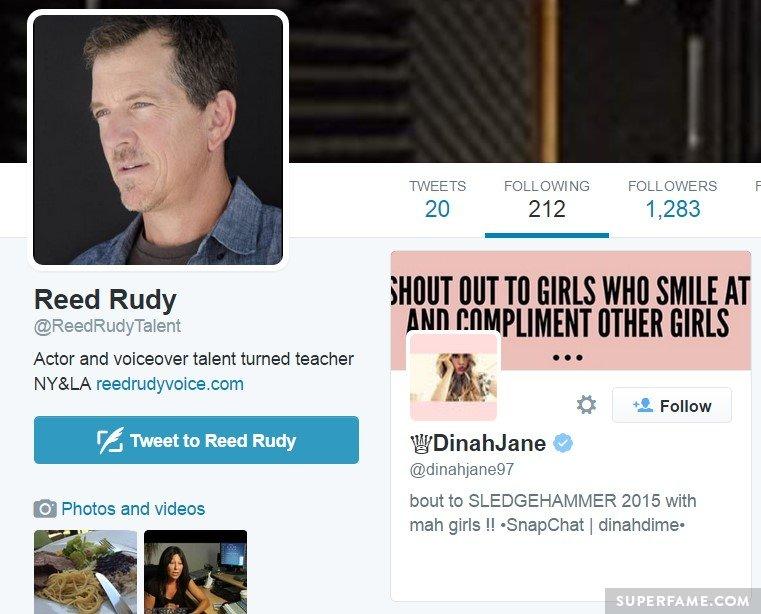 Follows Dinah.