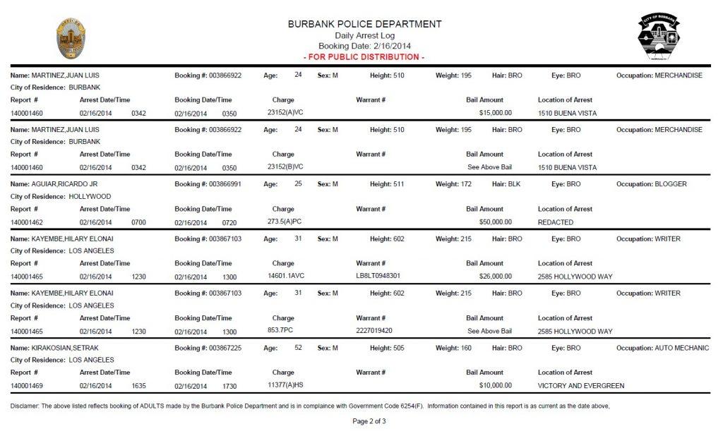 RJ Aguiar's arrest record.