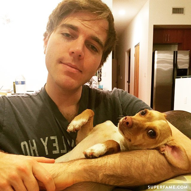 Shane Dawson with Corny.