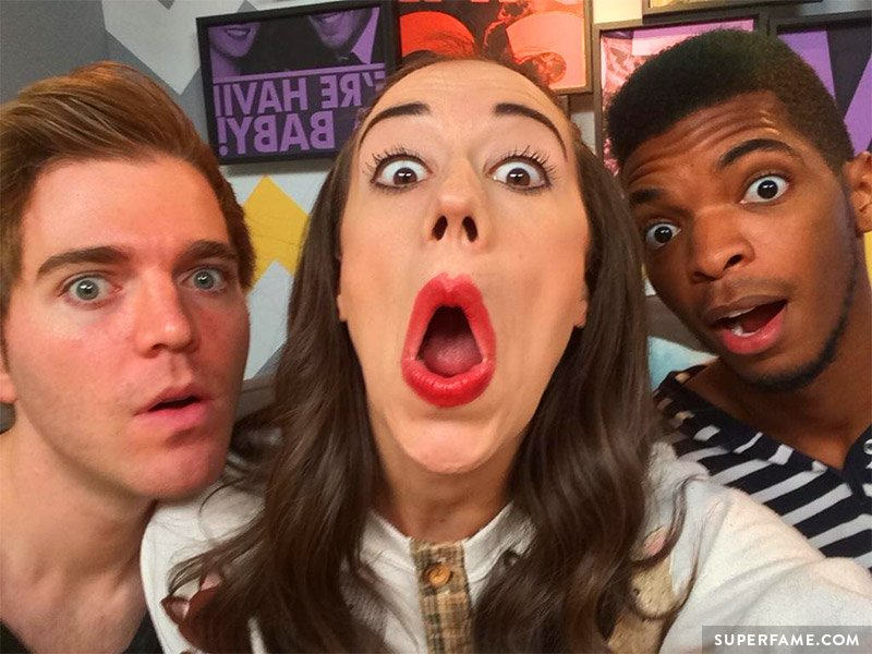 Miranda Sings with Shane Dawson and Kingsley.