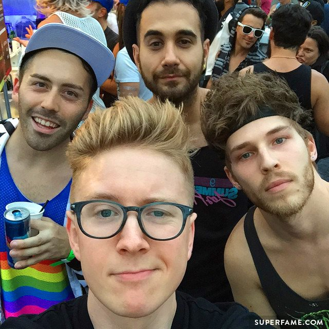 Tyler Oakley celebrates being gay.