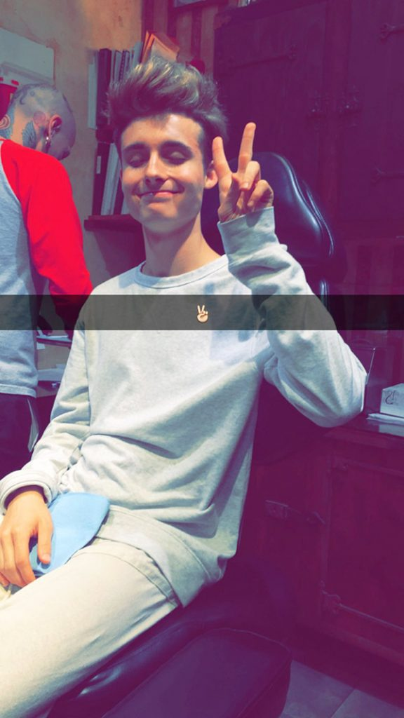 WeeklyChris getting a piercing.