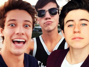 Cameron Dallas with Nash Grier and Taylor Caniff.