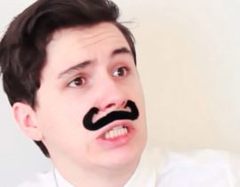 Dan Howell making a face.