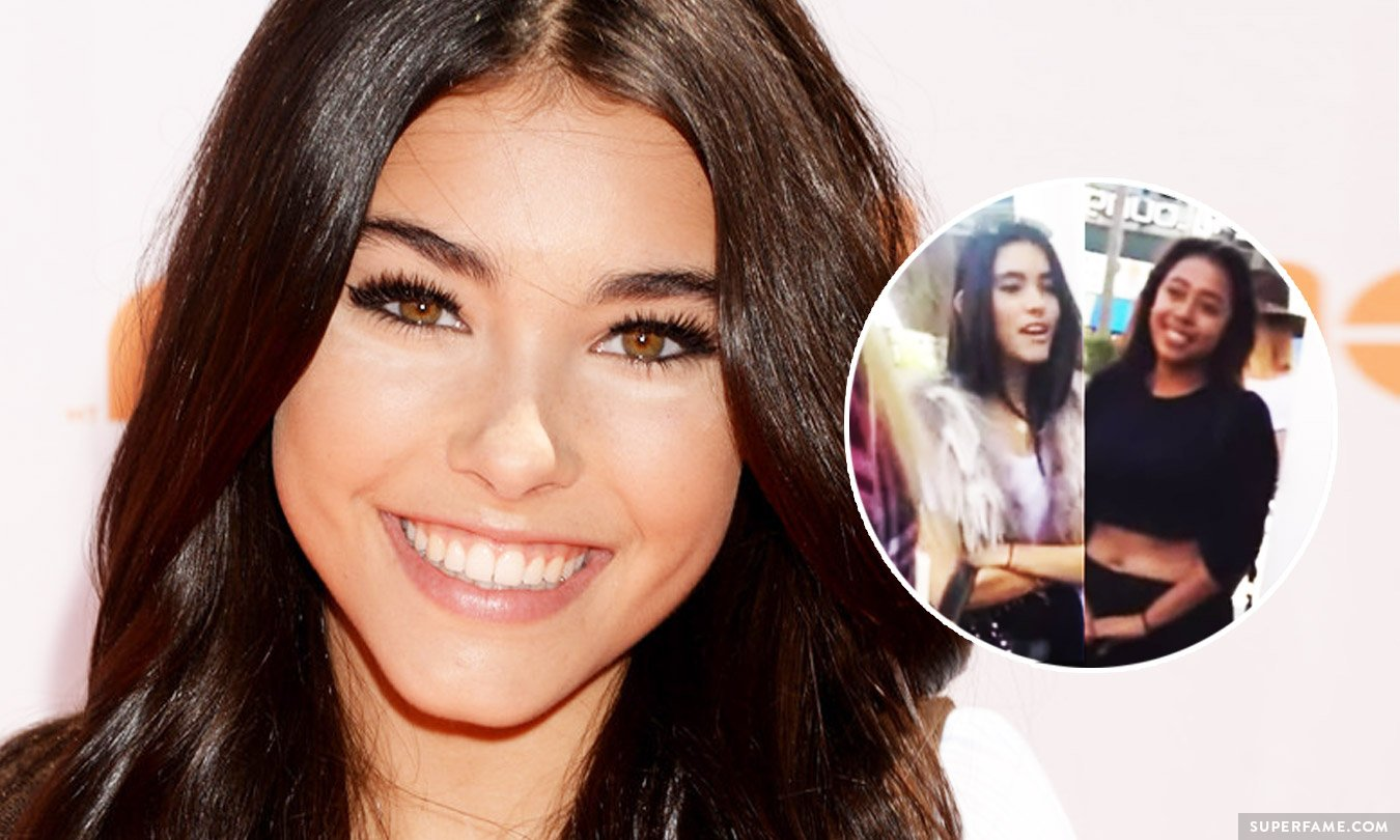 Madison Beer almost went Worldstar on a fan.