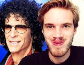 Pewdiepie with Howard Stern.
