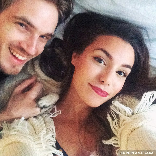 Pewdiepie and Marzia in bed.