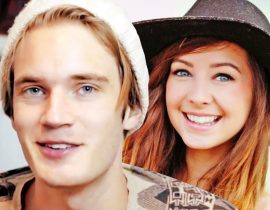 Pewdiepie and Zoella.
