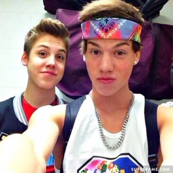 Taylor Caniff with his friend Matthew Espinosa.