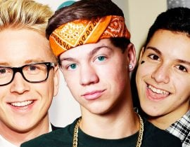 Taylor Caniff with Tyler Oakley and Lohanthony.