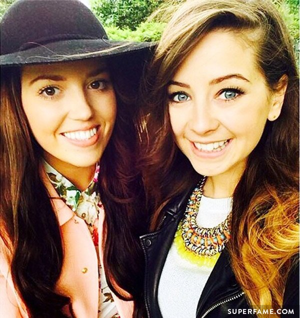 Zoella and Gabby looking friendly.