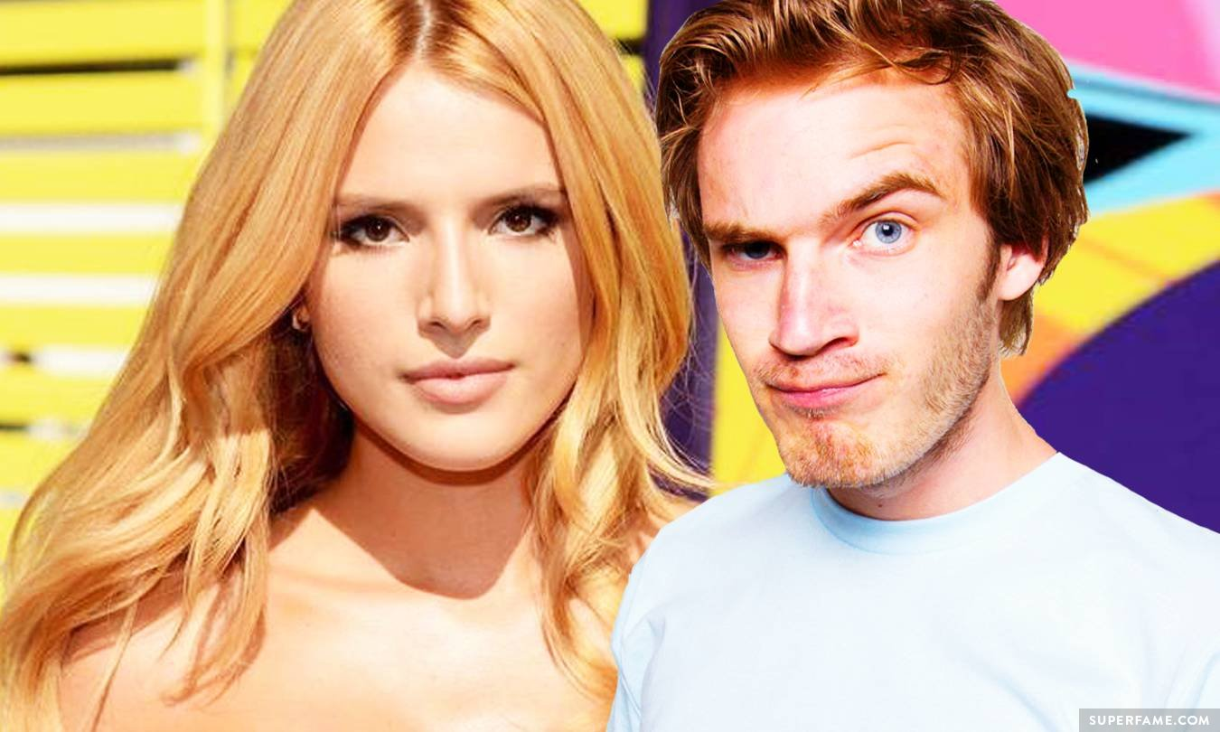 Pewdiepie and Bella Thorne.