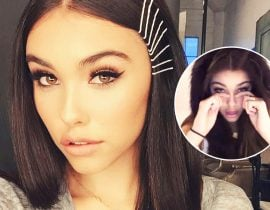 Madison Beer's makeup.