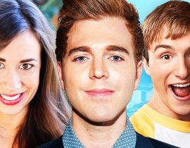 Shane Dawson, Colleen Ballinger and Lucas Cruikshank.
